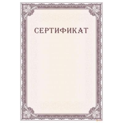 Сертификат для дилера арт. 12022