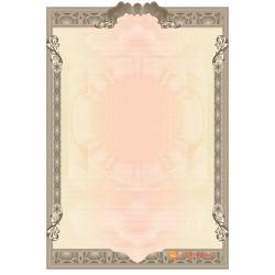 № 1403 бланк с вырезами серо-коричневого цвета