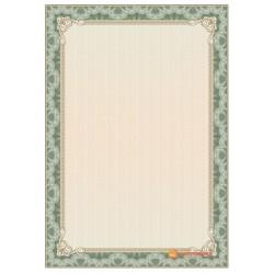 № 1360 бланк зеленый с золотой окантовкой
