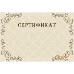Оригинал-макет свободного сертификата арт. 1119