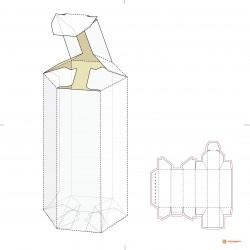 Коробка из гофрокартона под бутылку арт. 057