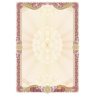 № 1478 бланк бордового цвета с золотыми лентами
