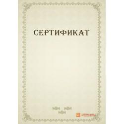 Дизайн-макет свободного сертификата арт. 1120