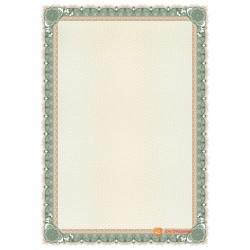 № 1479 бланк зеленого оттенка с бронзовой окантовкой