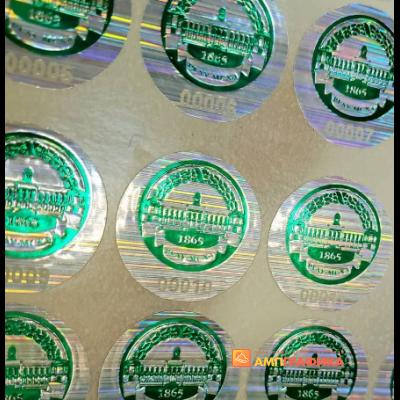 Изготовление псевдо голограммы с допечаткой зеленой фольгой