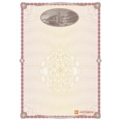 № 1382 бланк с гравюрой собора Василия Блаженного