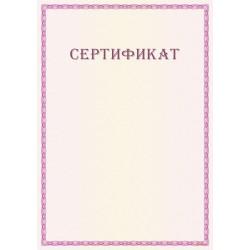 Сертификат с рамкой арт. 12019