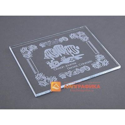 Гравировка стекла для табличек
