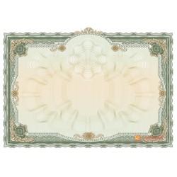 № 1408 бланк торжественный горизонтальный зеленого цвета