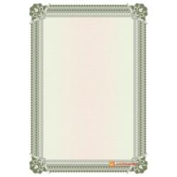 № 1426 бланк с широкой рамкой серо-зеленого цвета