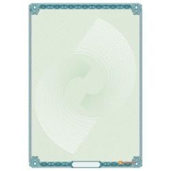 № 1313 бланк с сеткой цвета морской волны