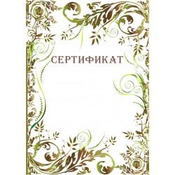 Сертификат для поощрения арт. 1176
