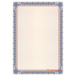 № 1480 бланк синего оттенка с бронзовой окантовкой