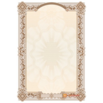 № 1467 бланк для поздравлений в коричневых цветах