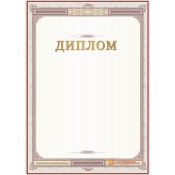 Диплом поздравительный (бордовый с рамкой) арт. 578