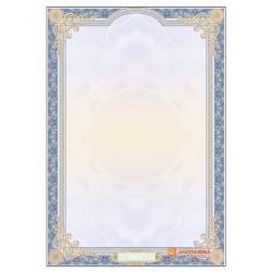 № 1433 бланк для сертификата с номером в синих цветах