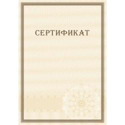 Сертификат с защитой арт. 115
