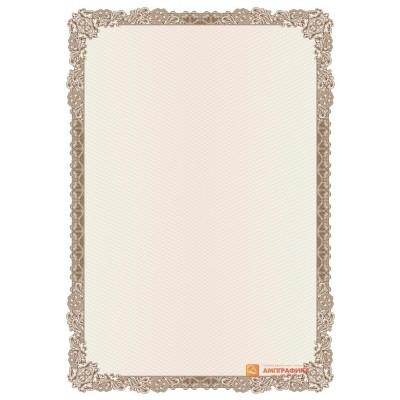 № 1421 бланк для приглашений коричневого цвета