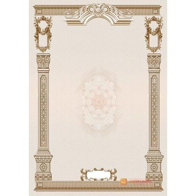 № 1350 бланк с рисованными элементами коричневого цвета