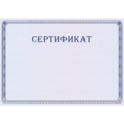 Сертификат с бордюром арт. 12017