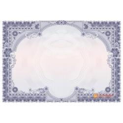 № 1452 бланк фиолетовый с ажурными краями
