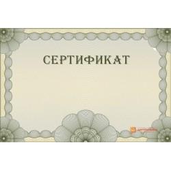 Оригинал-макет универсального сертификата арт. 1111