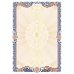 № 1477 бланк синего цвета с бронзовыми лентами