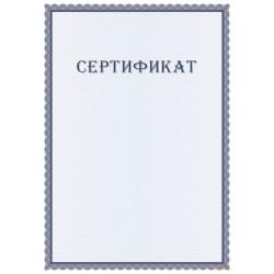 Сертификат участника семинара арт. 12005