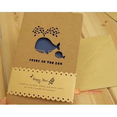 Гравировка бумаги для открыток
