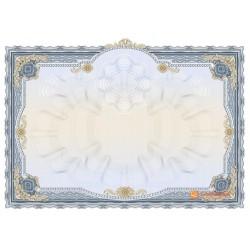 № 1407 бланк торжественный голубого цвета