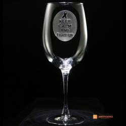 Гравировка на винном стакане