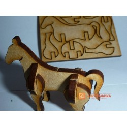 3д пазл - Лошадь