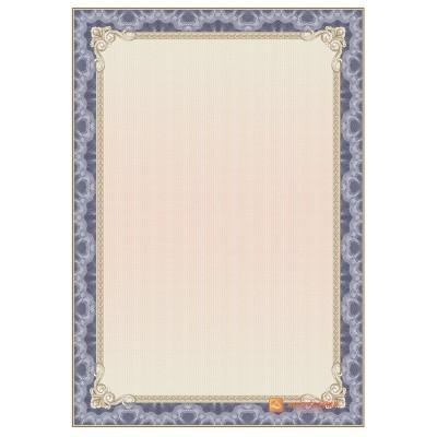 № 1361 бланк синий с золотой окантовкой