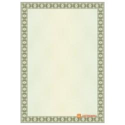 № 1380 бланк с прямой рамкой коричневато-зеленого цвета