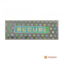 Голограмма защитная SECURITY прямоугольная