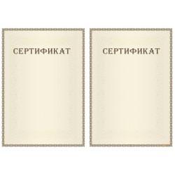 Сертификат с допечаткой текста арт. 1194