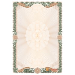 № 1476 бланк зеленого цвета с бронзовыми лентами